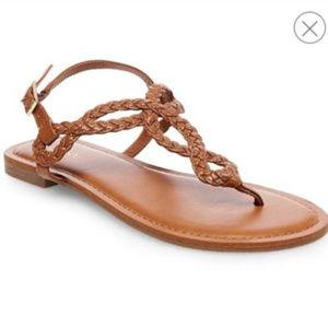 Merona Gladiator Brown Braided Sandal - WIDE WIDTH